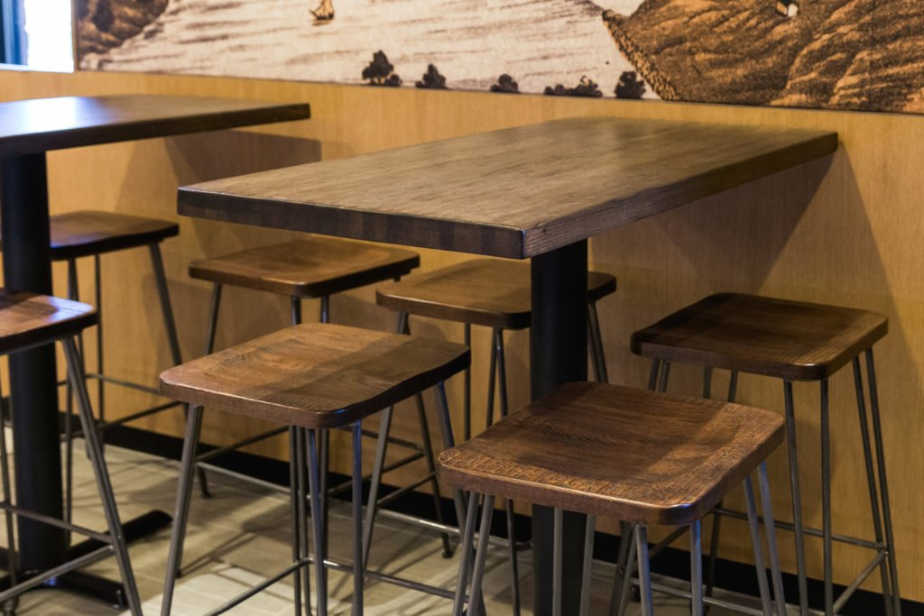 Refinished Bar Stools & Tables at the Craftsman, Naperville