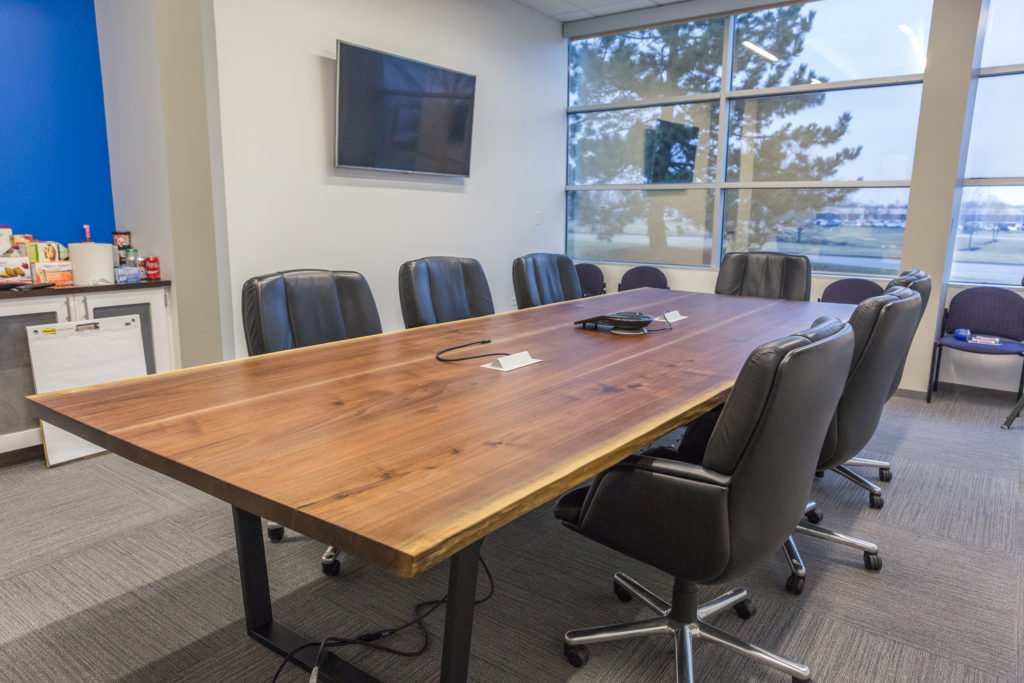 Conference Table with Live Edge