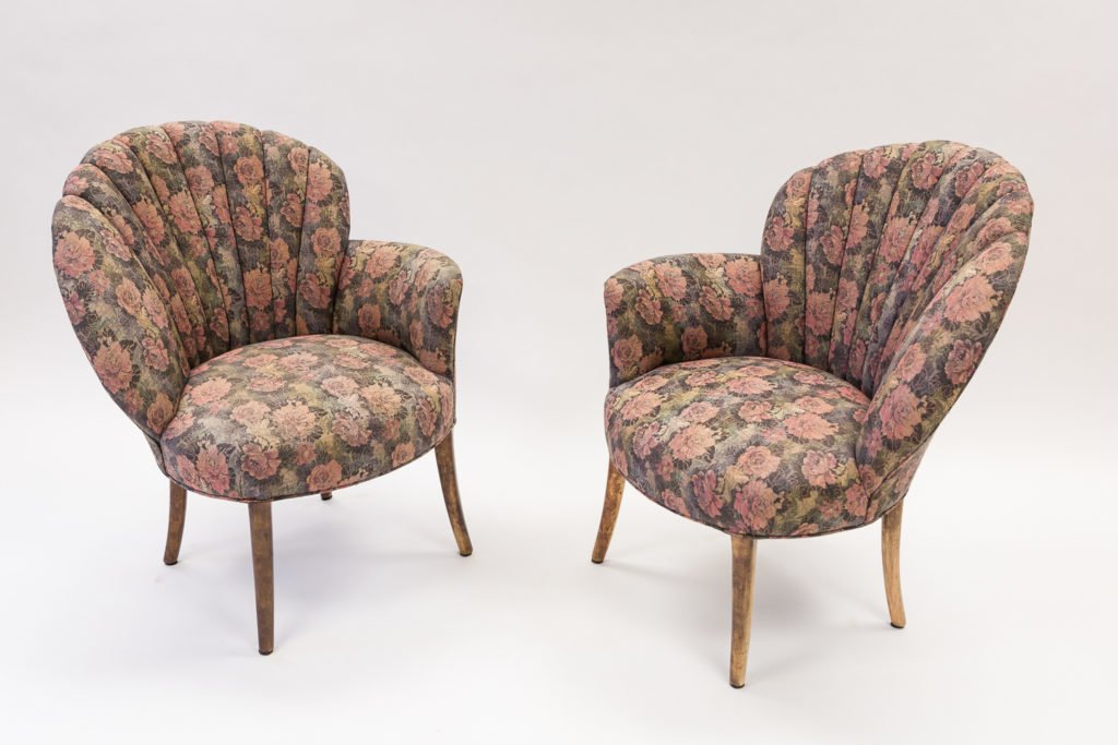 Before upholstery floral chair