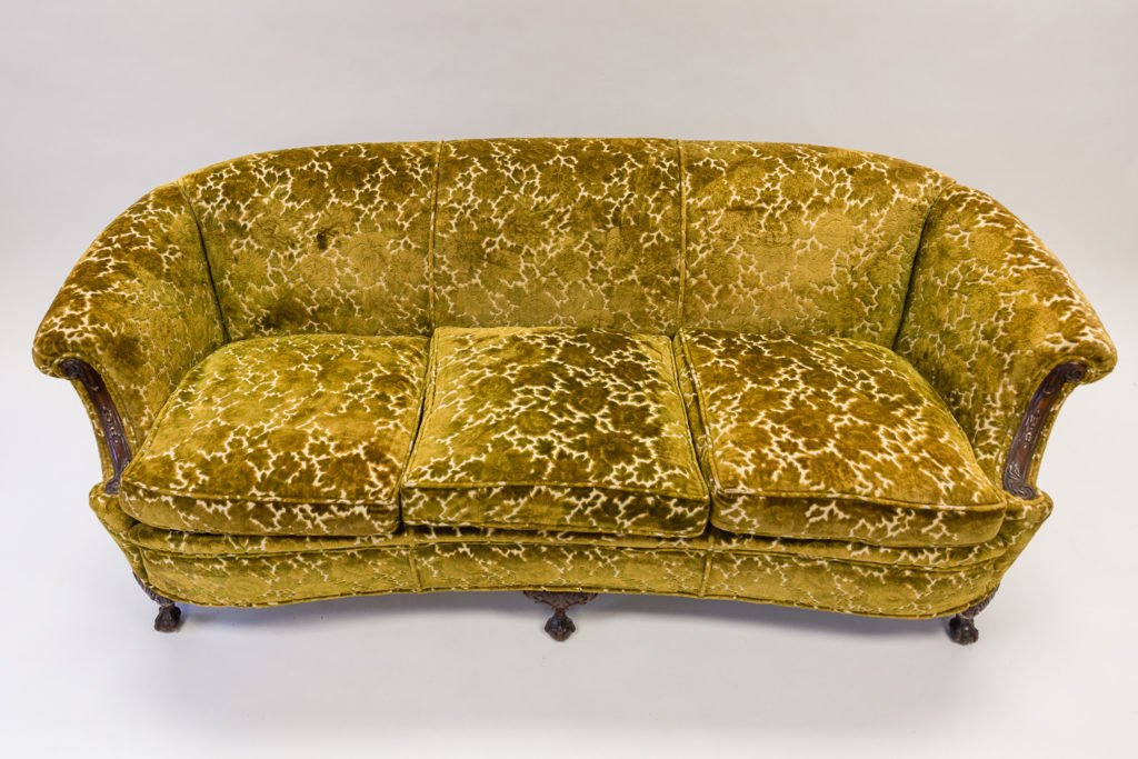 Yellow coach before upholstery full view