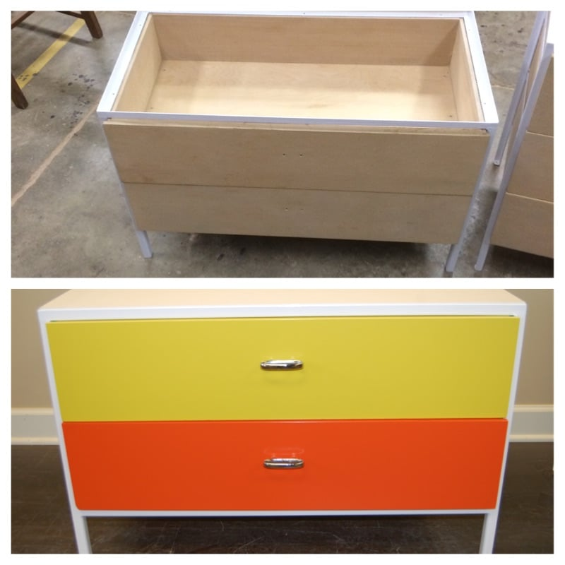 before and after cabinet set