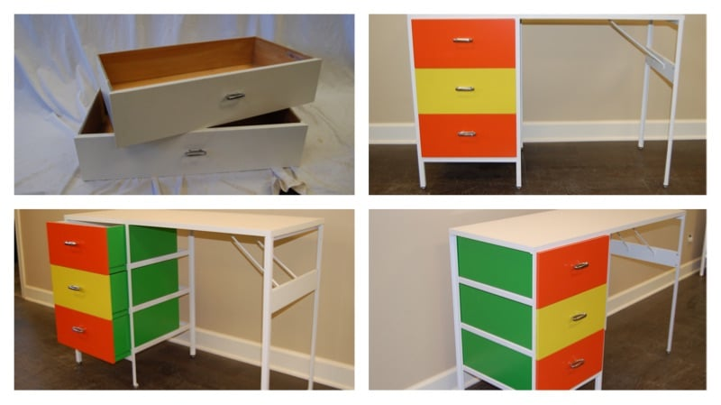before and after herman miller cabinet set