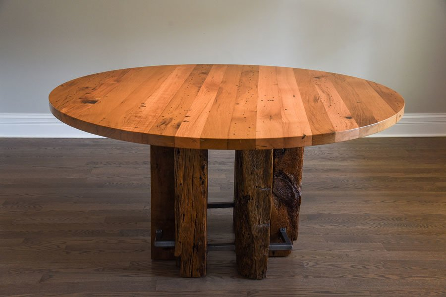 table made of reclaimed wood