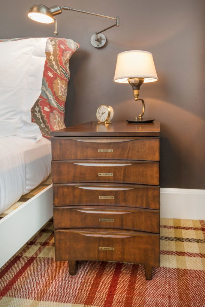 A refinished dresser in the Soho house