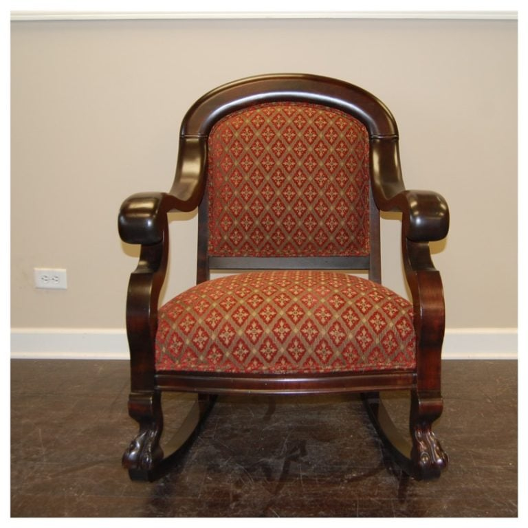 Furniture Refinishing – Rocker Refinish And Reupholstery