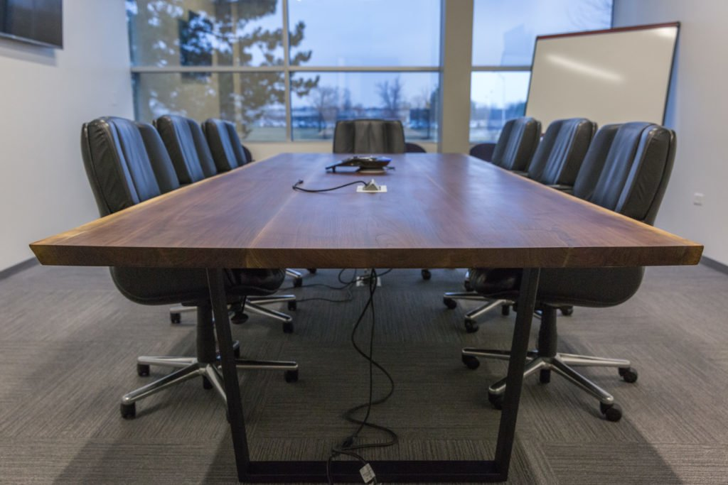 Custom Live Edge Conference Tables Wehrli Furniture - Conference room table grommets