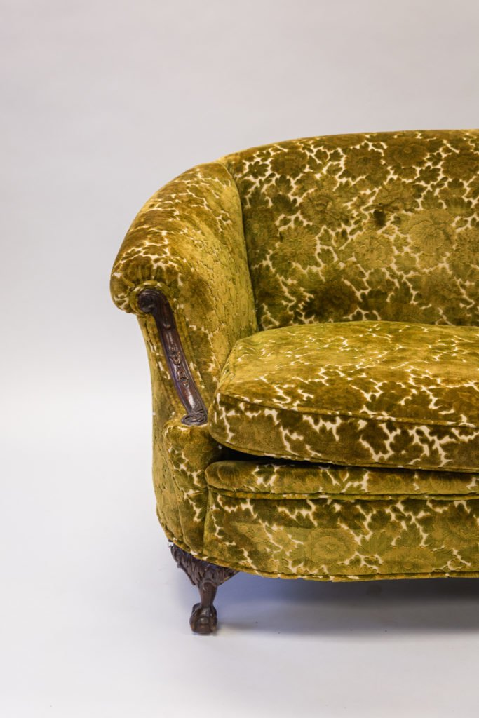 Yellow coach before upholstery half