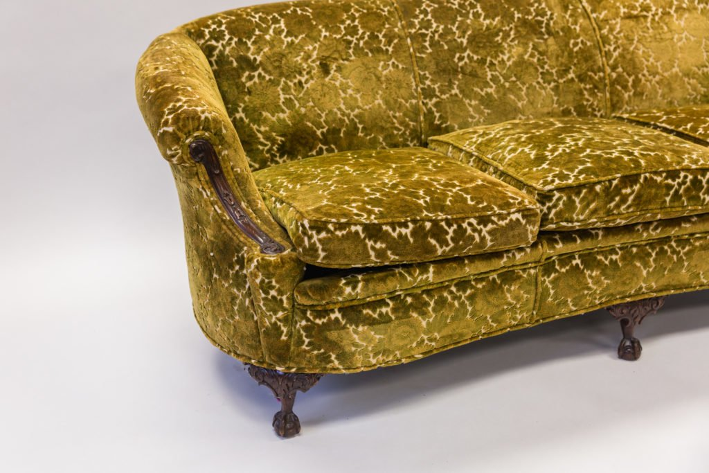 Yellow coach before upholstery side view