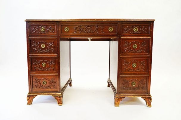 restored old huffman desk