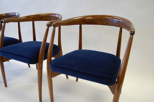 Dunham midcentury modern chair after a restoration